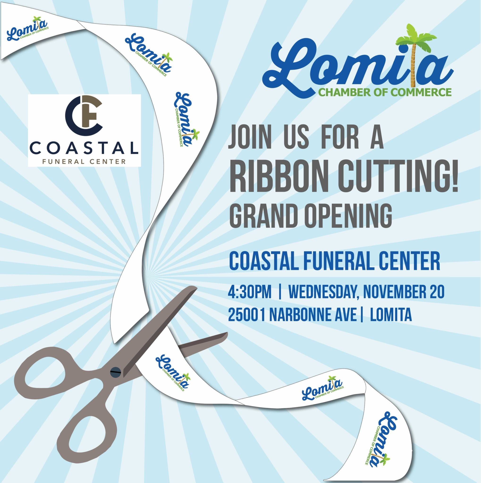 Ribbon Cutting and Grand Opening for Coastal Funeral Center in Lomita